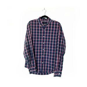 J.Crew Slim Button Plaid Down Shirt Blue Red